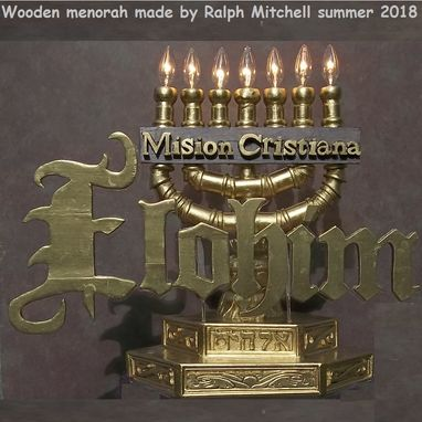 Custom Made Elohim Menorah