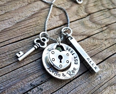 Custom Made Key To My Heart Family Keepsake Necklace