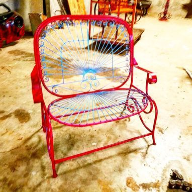 Custom Made Vintage Outdoor-Chairs, Lawn Chair