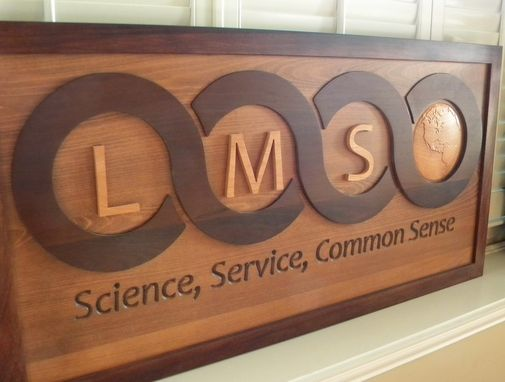 Custom Made Business Reception Area Sign