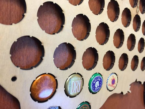 Custom Made Small Beer Cap Map Of Usa
