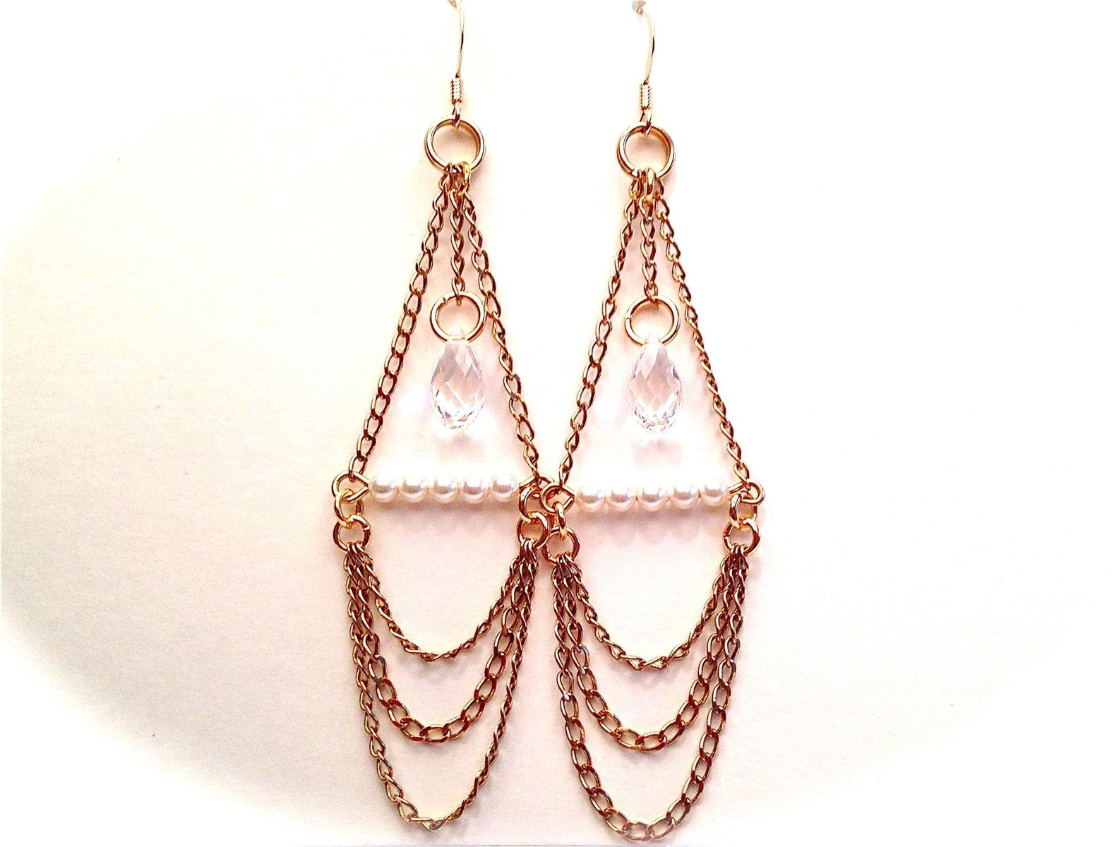 Handmade bohemian chain chandelier earrings by oohjacquelina custom made bohemian chain chandelier earrings arubaitofo Image collections