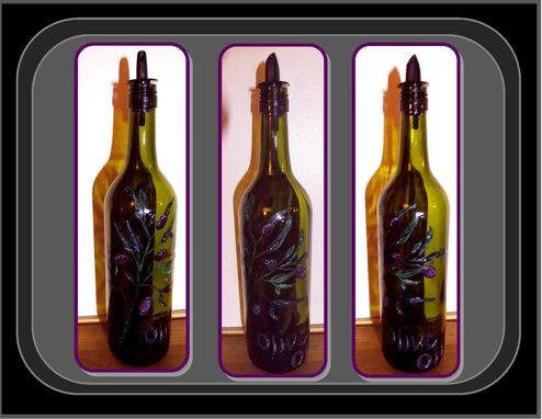 Custom Made Wine Bottle, Olive Oil, Cruet/Dispenser