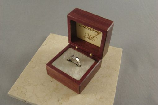 Custom Made Inlaid Engagement Ring Box With Free Engraving And Shipping. Rb2