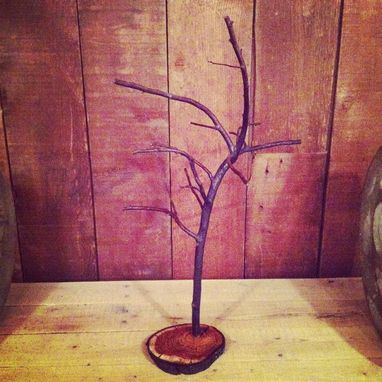 Custom Made Reclaimed Wood Necklace Tree