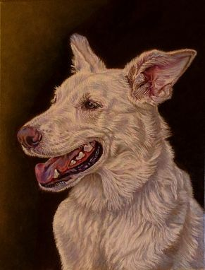 "Custom Made Custom Commissioned Oil Painting ~ Dog ""Luna"""