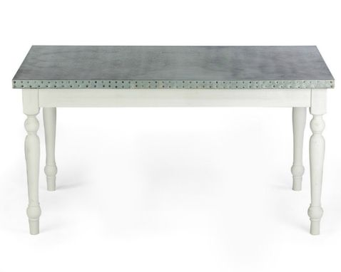 Custom Made Zinc Table  Zinc Dining Table - The Middleton Zinc Top Dining Table