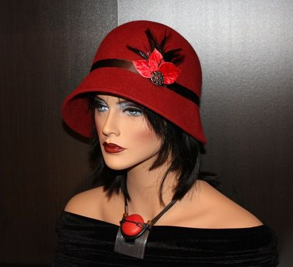 Custom Made Retro, Classy, Timeless And Elegant Fur Felt Cloche Hat
