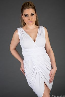 Custom Made Draped Skirt Convertible Dress