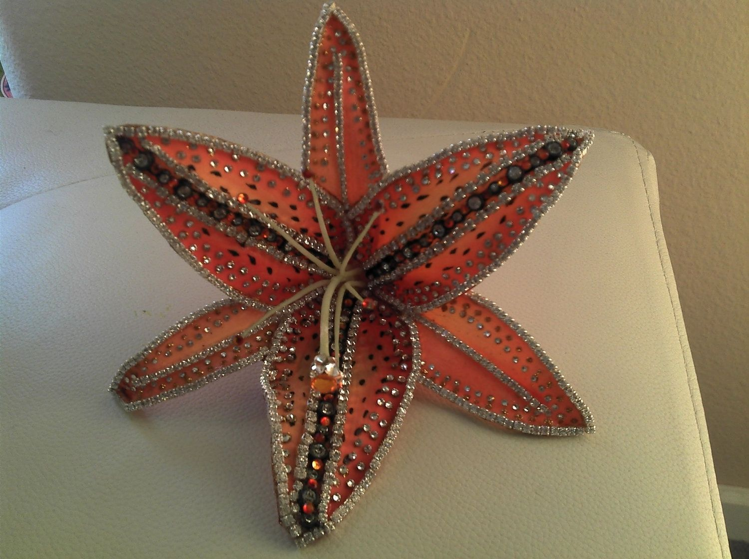Hand Crafted Sunfire Lily Floral Hair Clip By Fly Girl Eshe Custom