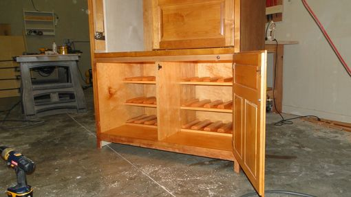Custom Made Modification Of A Corner Entertainment Center