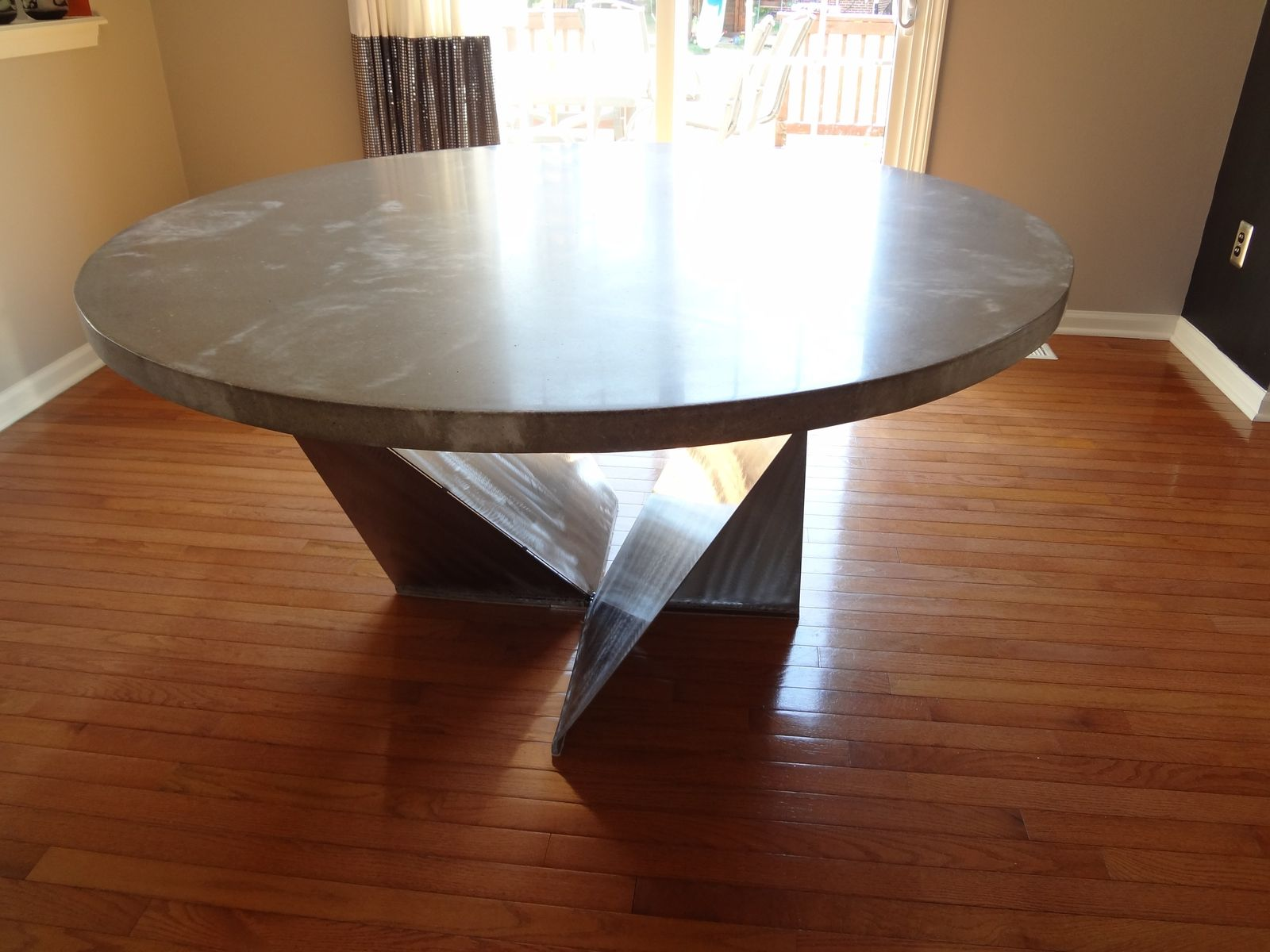 Custom dining room table kitchen table by rock and a hard for Custom dining room tables