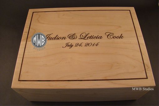 Custom Made Custom Keepsake Box The Employees Of A Local Company Had Made For Their Boss On His Wedding Day.