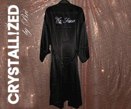 Custom Made Custom Personalized Crystallized Groom's Robe Wedding Made With Swarovski Crystals