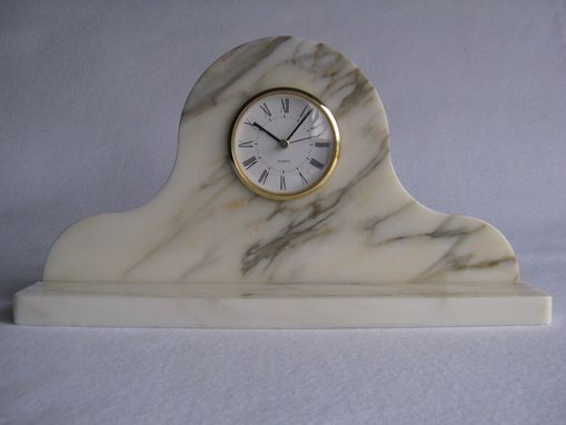 Custom Made Marble Mantle Clock