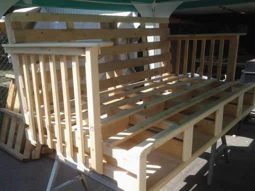 Custom Made Daybed Made Of Pallets With Storage