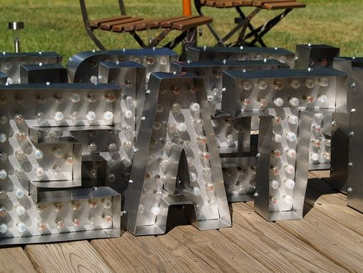 hand crafted movie marquee letter bulb channel any letter