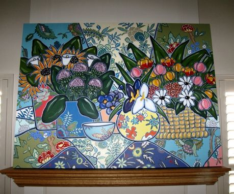 Custom Made French Country Still Life Painting Original Acrylic On Canvas