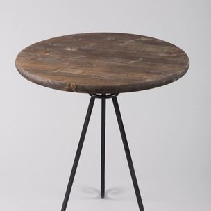 Elegent Scroll End Accent Table Wood And Metal By