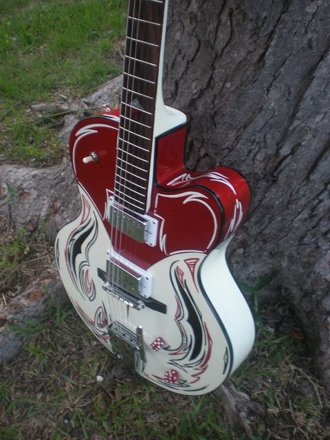 Hand Crafted Hot Rod Hollowbody By Hitone Guitars