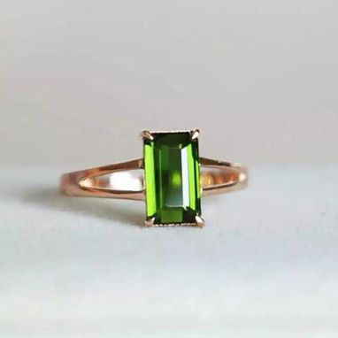 Custom Made 1.92 Carat Tourmaline Ring In 14k Rose Gold