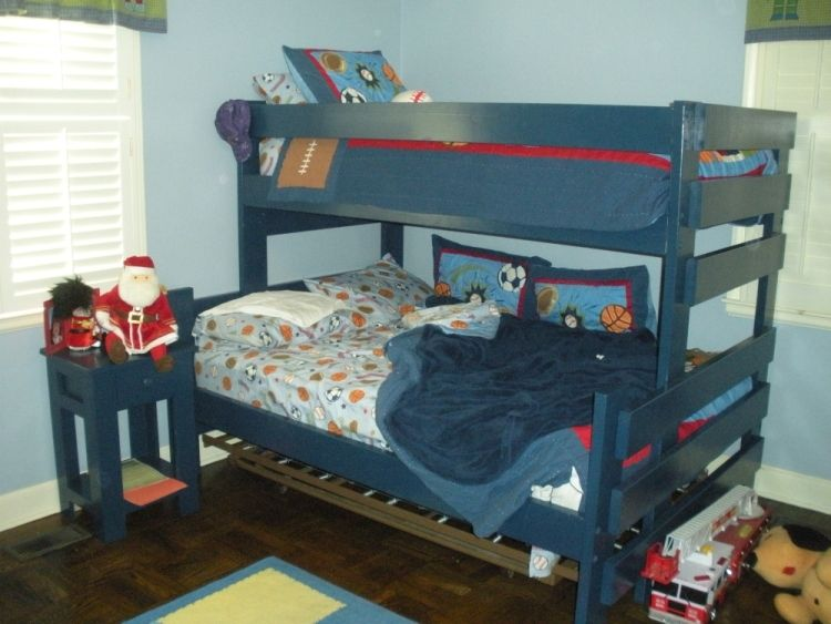 Hand Crafted Twin Over Full Bunk Bed With Nightstand By Ambassador Woodcrafts Custommade Com