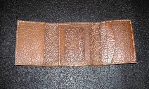 Custom Made Buffalo Leather Trifold Wallet