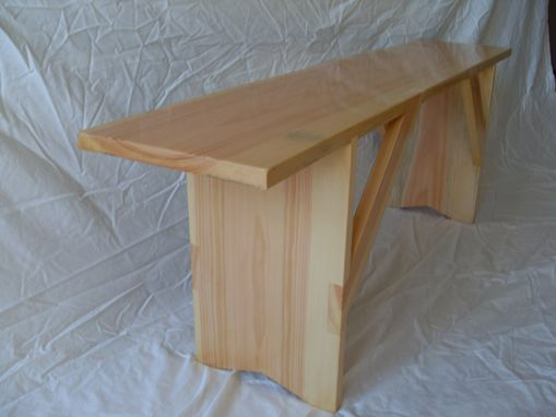 Custom Made Shaker-Style Meetinghouse Bench