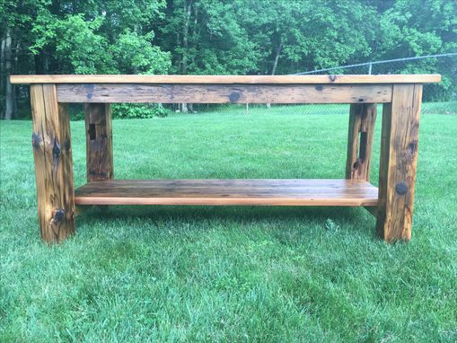 Custom Made Rustic Reclaimed Prep Table