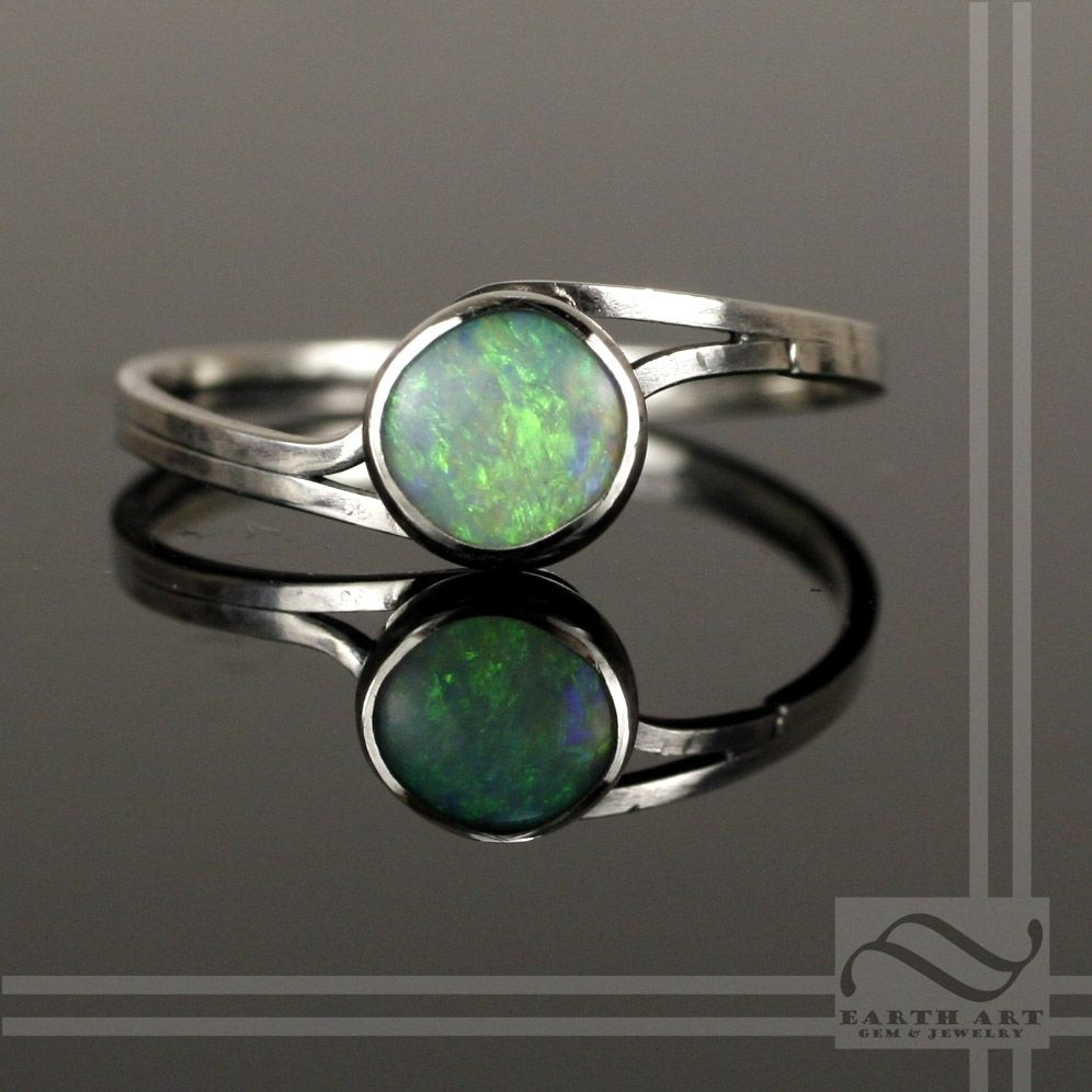 Buy a Hand Made Simple Opal Bypass Ring, made to order from Earth ...