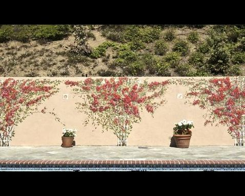 Custom Made Exterior Wall Enhanced With Flowers