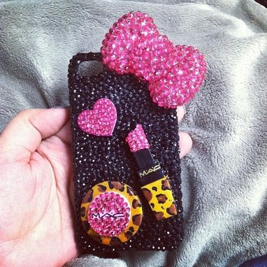 Custom Made Custom 3d Bling Cellphone Case Fashion / Mac Makeup Inspired