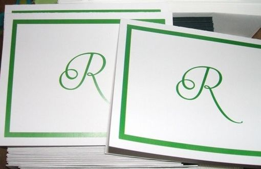 Custom Made 50 Custom Personalized Monogrammed Thank You Cards, Totally Customizable