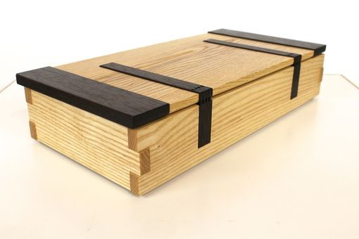 Custom Made Ash And Wenge Jewelry Box With Wood Hinges