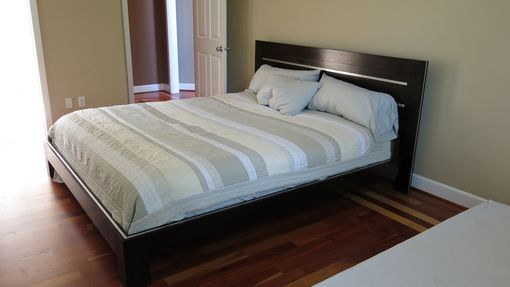 Custom Made Wenge Platform Bed