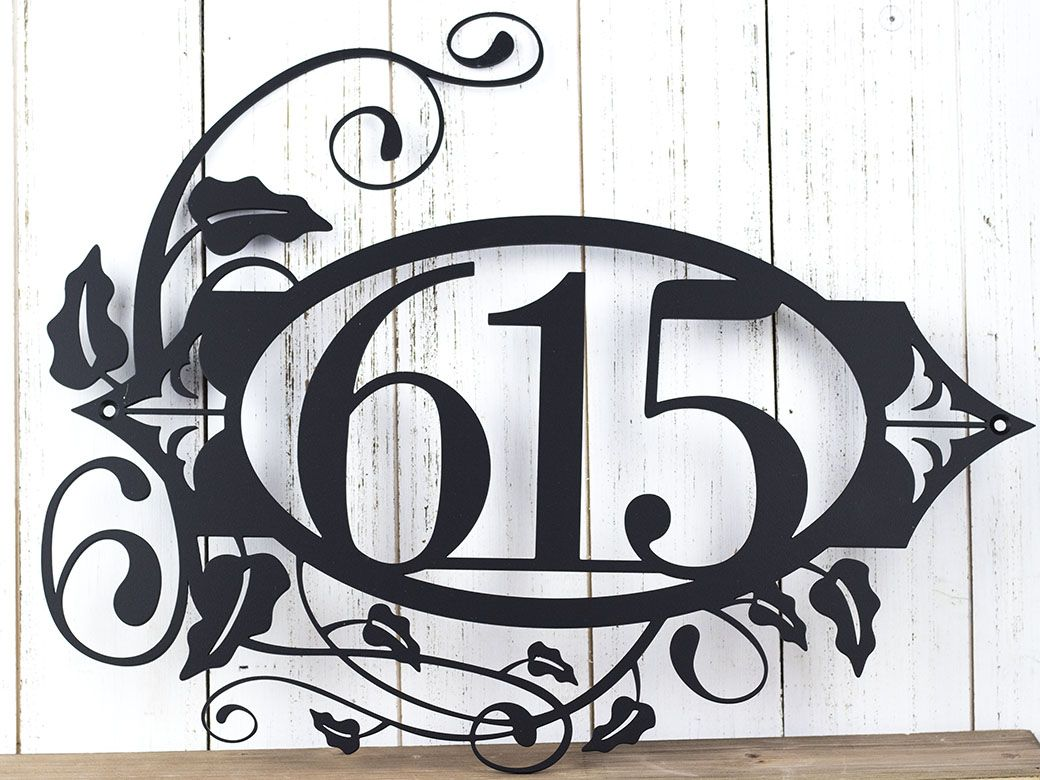Custom Made House Numbers Metal Sign Number Address Wall