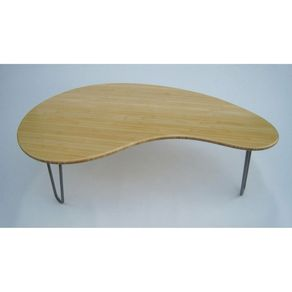 Kidney Bean Shaped Coffee Table Mid Century Modern Atomic Era Design In Natural Bamboo