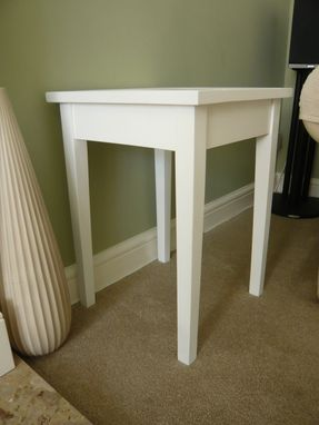 Custom Made Side Table, With Hidden Drawer