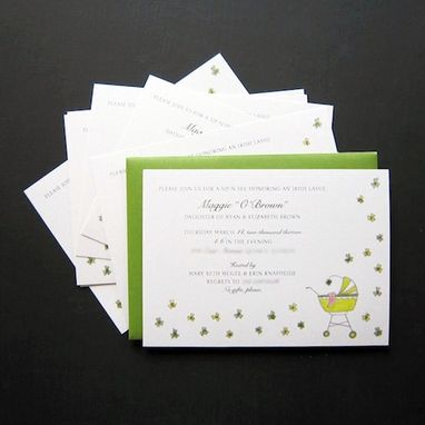 Custom Made Custom Baby Shower Invitations