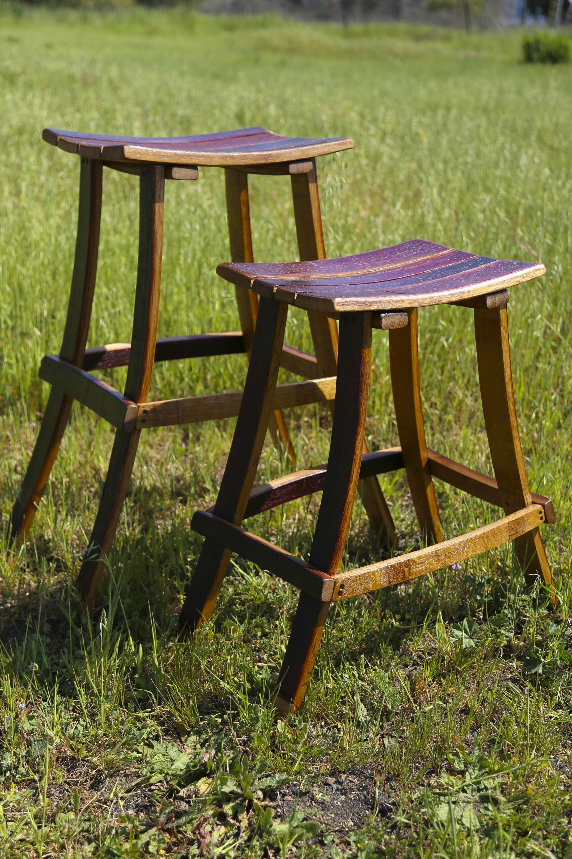 Custom Made Wine Barrel Bar Stools Special Price