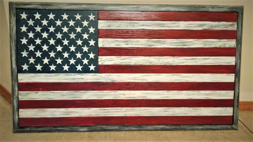 Custom Made Distressed Look Old Glory