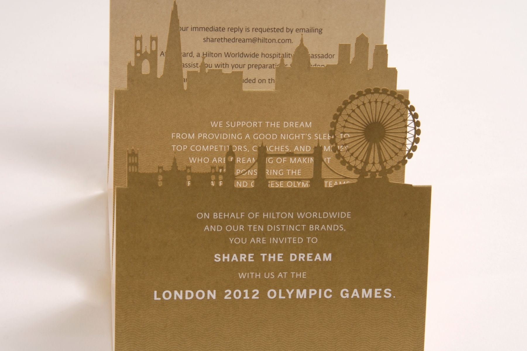Hand made laser cut vip invitations for 2012 olympics by custom made laser cut vip invitations for 2012 olympics stopboris Image collections