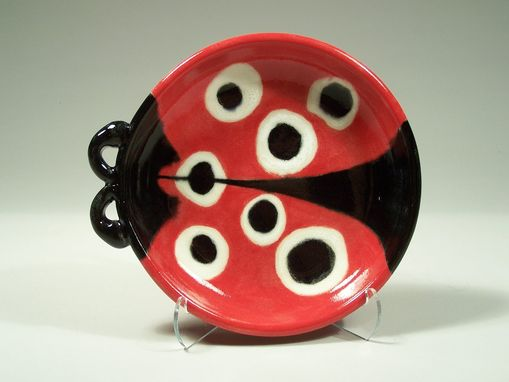 Custom Made Ladybug Childs Dish - Handpainted Porcelain