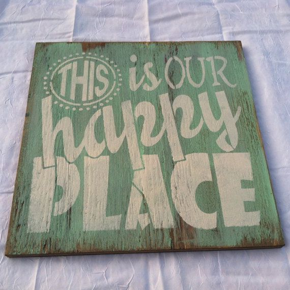 Buy A Hand Made This Is Our Happy Place Hand Painted, Welcome Sign