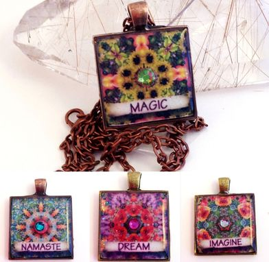 Custom Made Inspirational Mandala Pendant Necklaces