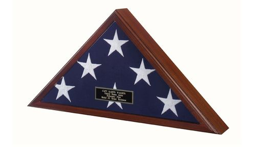 Custom Made Officers Flag Display Case, Burial Flag, Coffin Flag Case