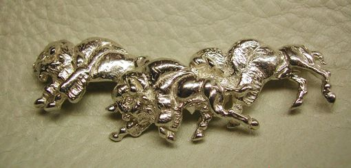 Custom Made Sterling Silver Buffalo Herd Broche