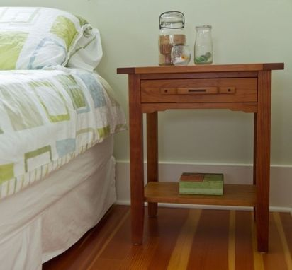 Custom Made Cherry Bedside Table