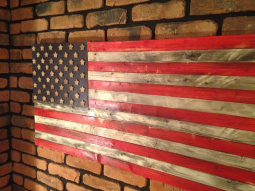 Custom Made Handmade Rustic American Flag
