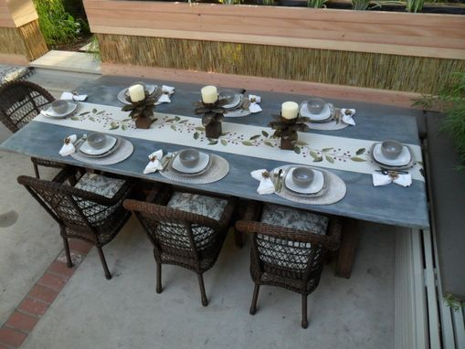 Custom Made Dining Table With Metal Top